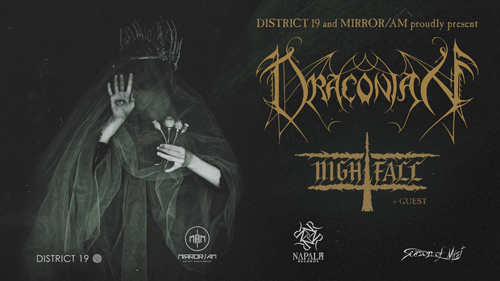 Live: DRACONIAN, NIGHTFALL & GUEST