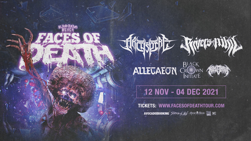 Live: FACES OF DEATH: ARCHSPIRE, RIVERS OF NIHIL and more