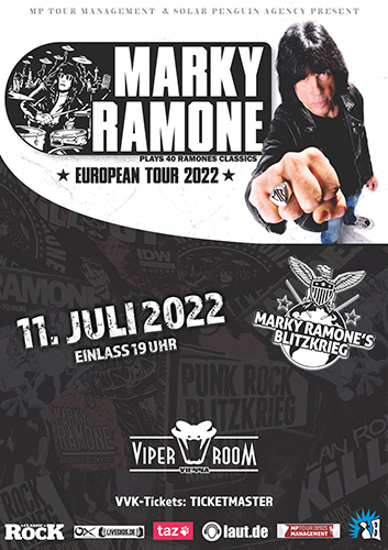 Live: MARKY RAMONE and Supports