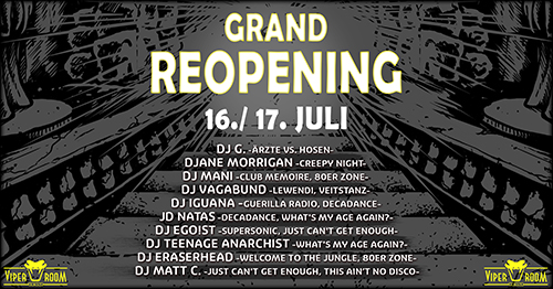 THE GRAND REOPENING WEEKEND - DAY 1